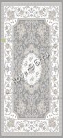 Ковер BAROQUE CARPET 6162 L.GREY/WHITE 0.8*1.5